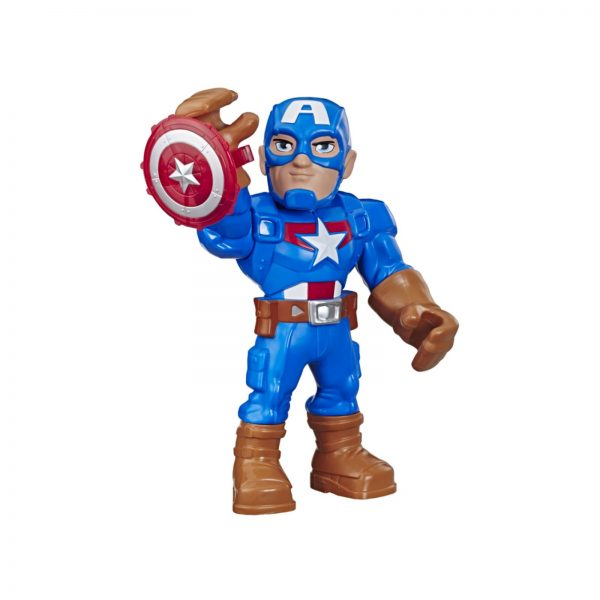 MARVEL SUPER HERO ADVENTURES - CAPTAIN AMERICA (ACTION FIGURE 25 CM DA COLLEZIONE, PLAYSKOOL HEROES MEGA MIGHTIES) MARVEL SUPER HERO ADVENTURE