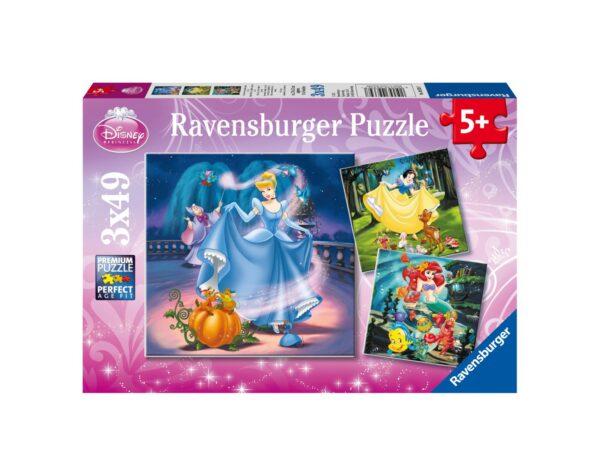 RAVENSBURGER - PUZZLE 3X49 PEZZI - PRINCIPESSE DISNEY A Ravensburger1