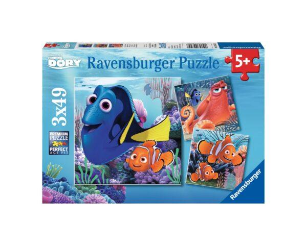 RAVENSBURGER - PUZZLE 3X49 PEZZI - ALLA RICERCA DI DORY Ravensburger1