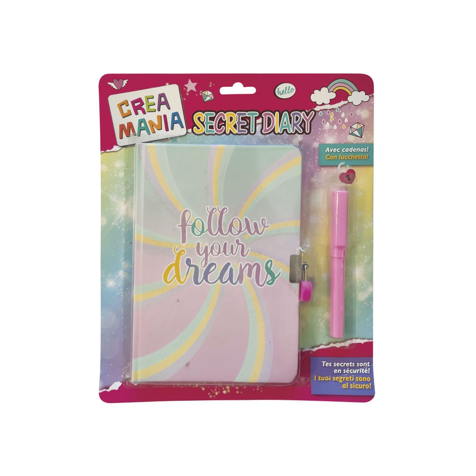 Secret diary - diario segreto con penna - CREAMANIA GIRL