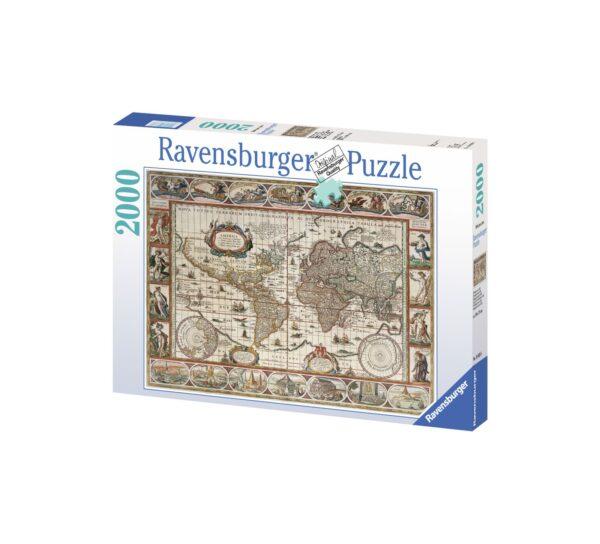 RAVENSBURGER PUZZLE 2000 PEZZI MAPPAMONDO ANTICO 1650 Ravensburger1