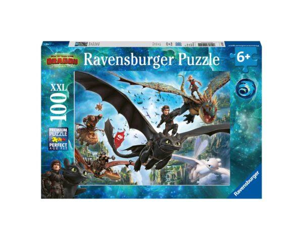 RAVENSBURGER - PUZZLE 100 PEZZI XXL - DRAGONS A Ravensburger1