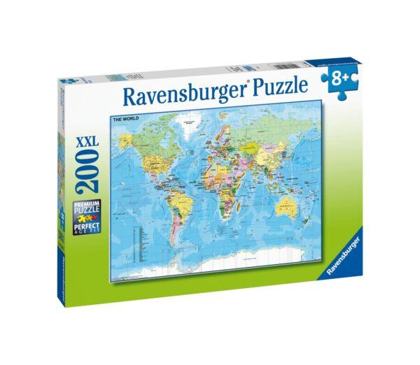 Ravensburger1  RAVENSBURGER - PUZZLE 200 PEZZI XXL - MAPPA DEL MONDO