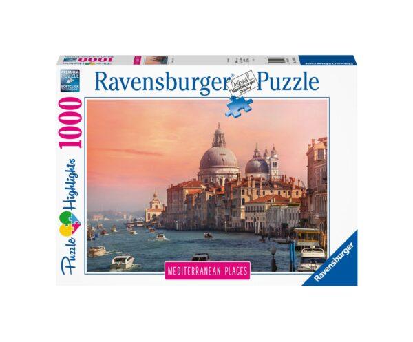 RAVENSBURGER PUZZLE 1000 PEZZI MEDITERRANEAN ITALY VENEZIA Ravensburger1