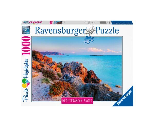 RAVENSBURGER PUZZLE 1000 PEZZI MEDITERRANEAN GRECIA Ravensburger1