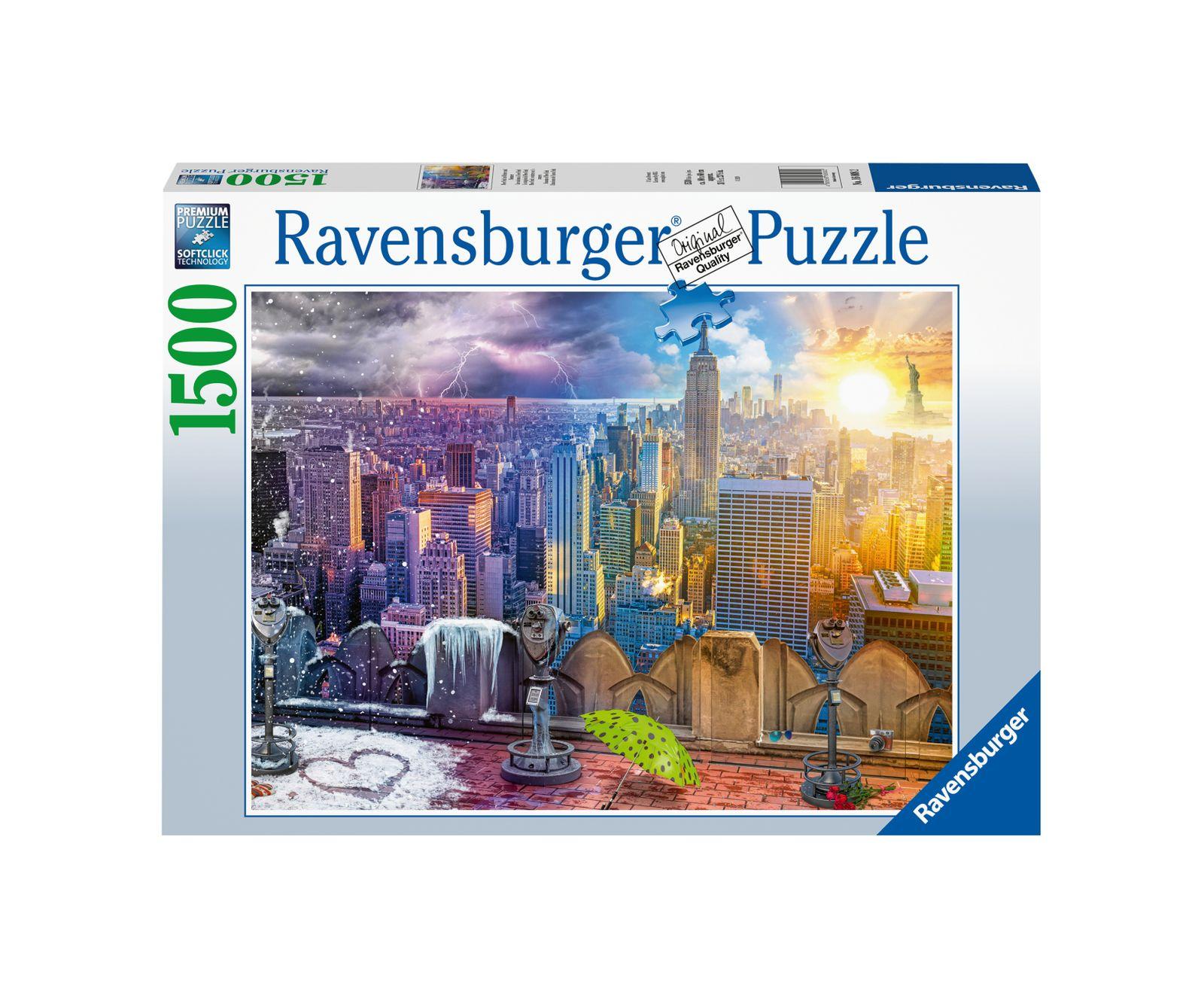 Ravensburger puzzle 1500 pezzi le stagioni di new york - Ravensburger1