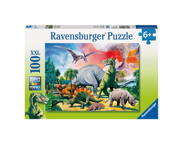 RAVENSBURGER - PUZZLE 100 PEZZI XXL - DINOSAURI Ravensburger1