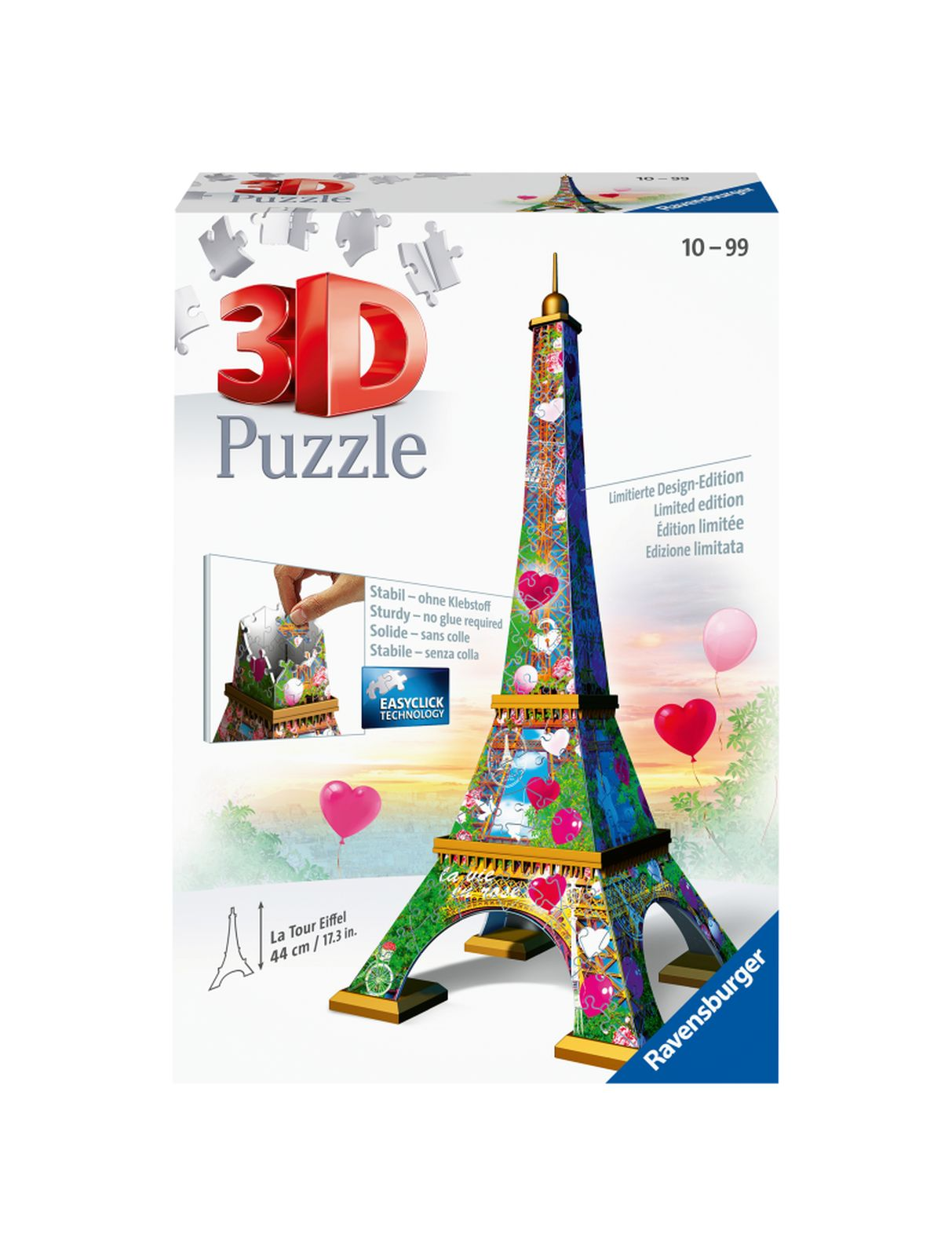 Ravensburger puzzle 3d tour eiffel love edition - Ravensburger1