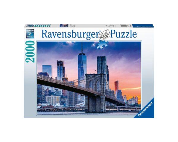 RAVENSBURGER PUZZLE 2000 PEZZI DA BROOKLYN A MANHATTAN Ravensburger1