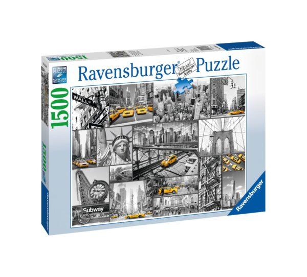 RAVENSBURGER PUZZLE 1500 PEZZI MACCHIE DI COLORE A NEW YORK    Ravensburger1
