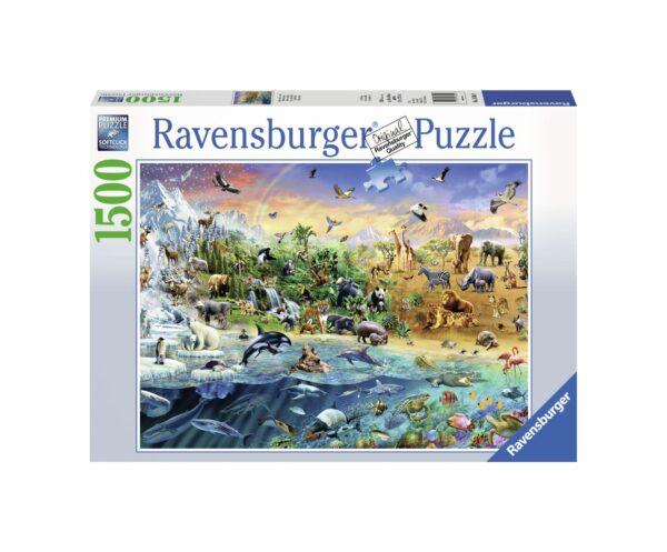 RAVENSBURGER PUZZLE 1500 PEZZI OUR WILD WORLD Ravensburger1