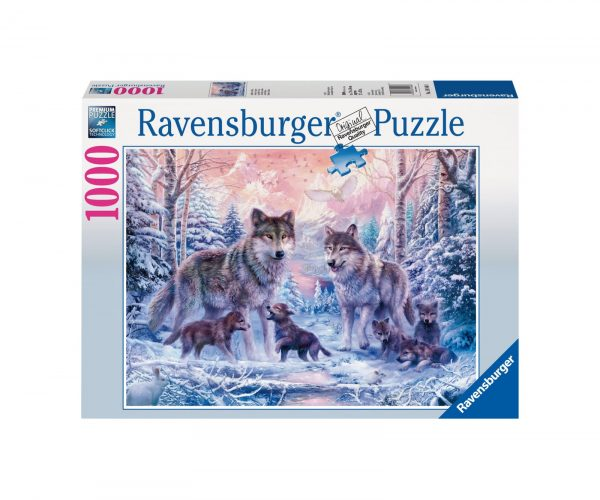 RAVENSBURGER PUZZLE 1000 PEZZI LUPI ARTICI Ravensburger1