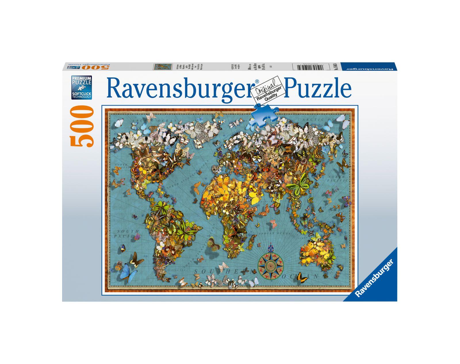 Ravensburger puzzle 500 pezzi mondo di farfalle - Ravensburger1