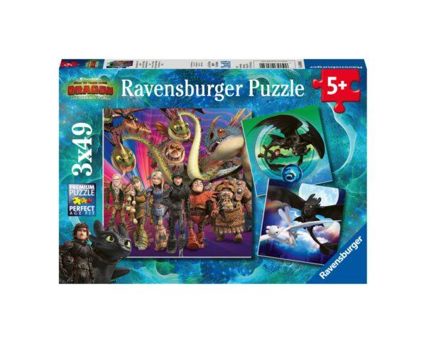 RAVENSBURGER - PUZZLE 3X49 PEZZI - DRAGONS Ravensburger1