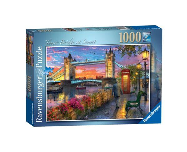 RAVENSBURGER PUZZLE 1000 PEZZI - TOWER BRIDGE AL TRAMONTO Ravensburger1