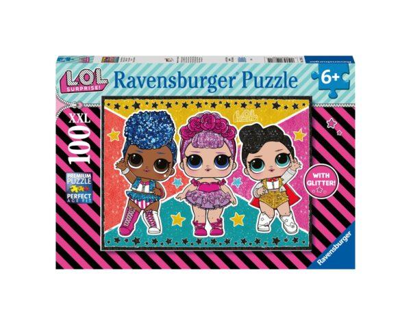 RAVENSBURGER - PUZZLE 100 PEZZI XXL - L.O.L. GLITTER Ravensburger1