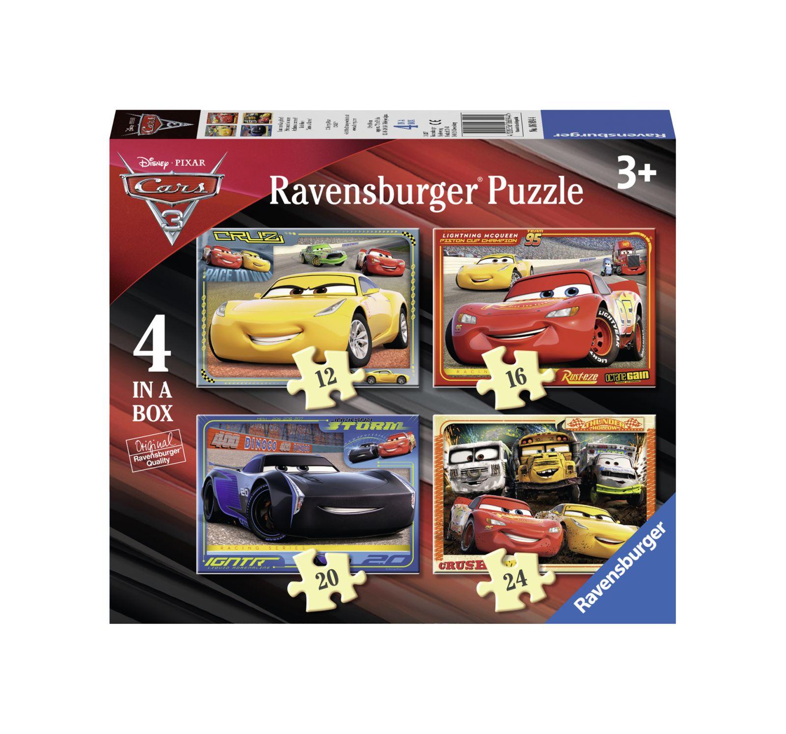 Ravensburger - 4 in a box - disney cars - Ravensburger1