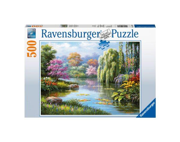 RAVENSBURGER - PUZZLE 500 PEZZI - VISTA ROMANTICA DELLO STAGNO Ravensburger1
