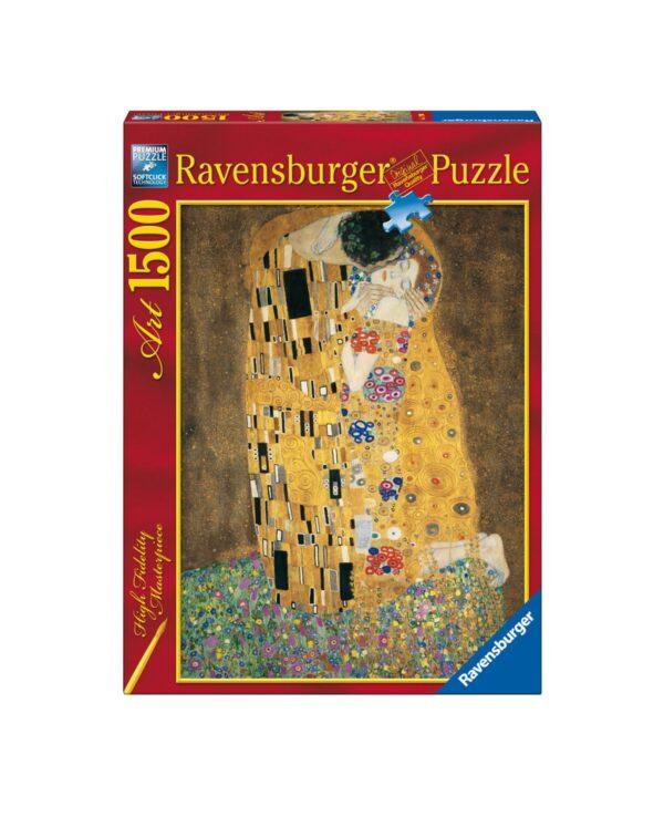 RAVENSBURGER PUZZLE 1500 PEZZI KLIMT: IL BACIO Ravensburger1