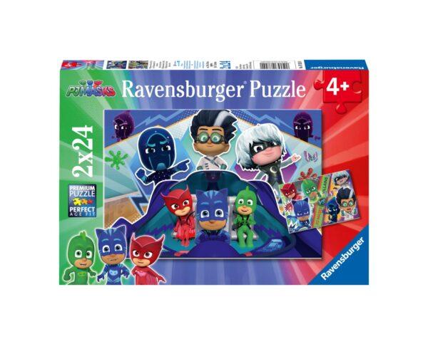 RAVENSBURGER - PUZZLE 2X24 PEZZI - PJ MASK Ravensburger1
