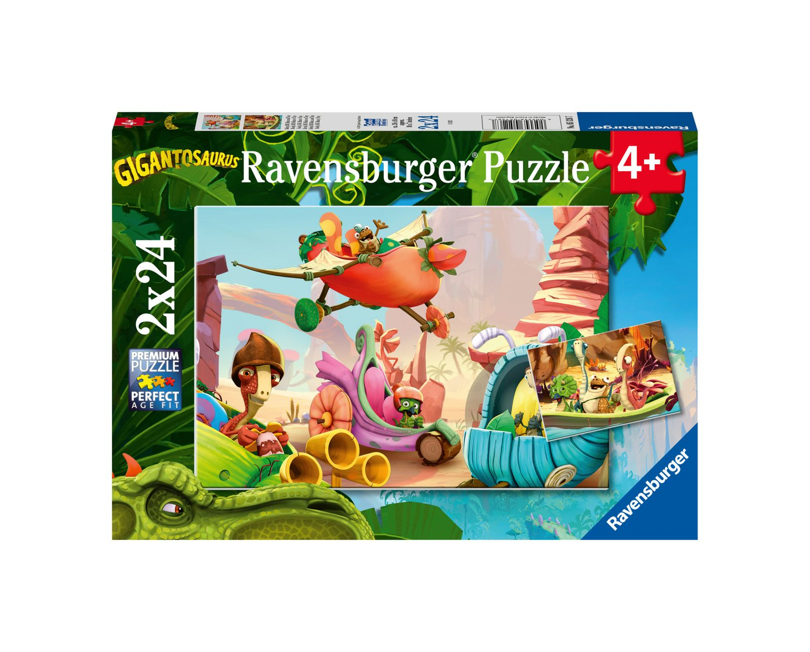 Ravensburger puzzle 2x24 pezzi gigantosaurus - Ravensburger1