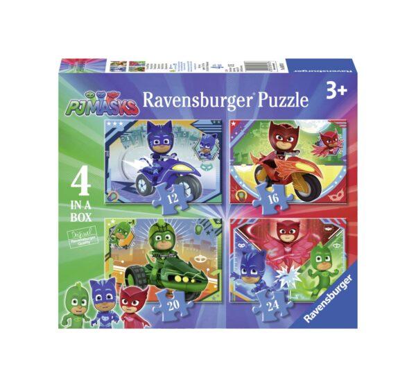 RAVENSBURGER - PUZZLE 4 IN 1 - PJ MASKS Ravensburger1