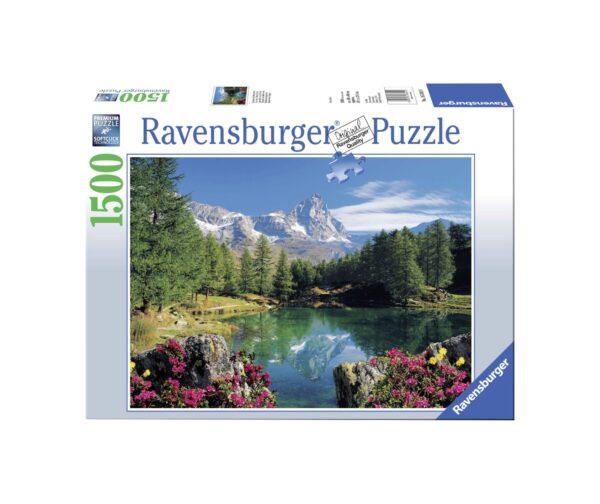 RAVENSBURGER PUZZLE 1500 PEZZI LAGO ALPINO CON CERVINO Ravensburger1