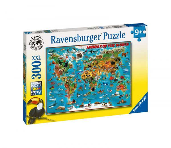 RAVENSBURGER - PUZZLE 300 PEZZI XXL - ANIMALI DEL MONDO    Ravensburger1
