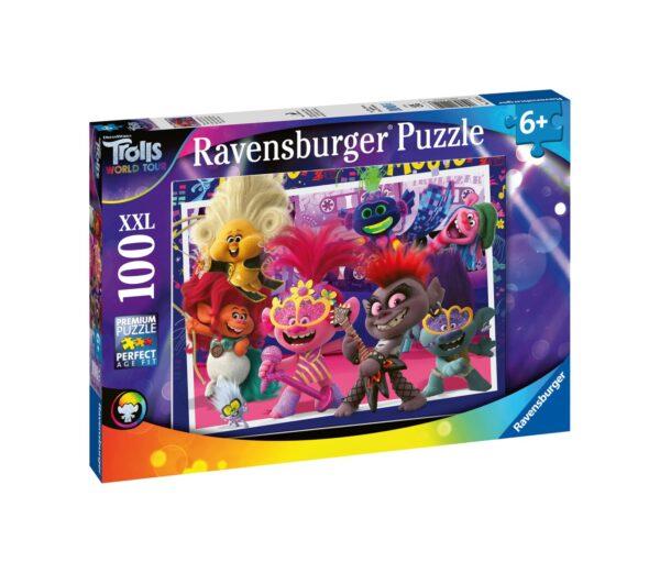 Ravensburger1  RAVENSBURGER - PUZZLE 100 PEZZI XXL - TROLLS 2: CANTA A SQUARCIAGOLA