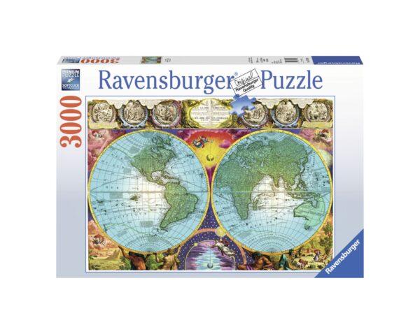 RAVENSBURGER PUZZLE 3000 PEZZI MAPPAMONDO ANTICO Ravensburger1
