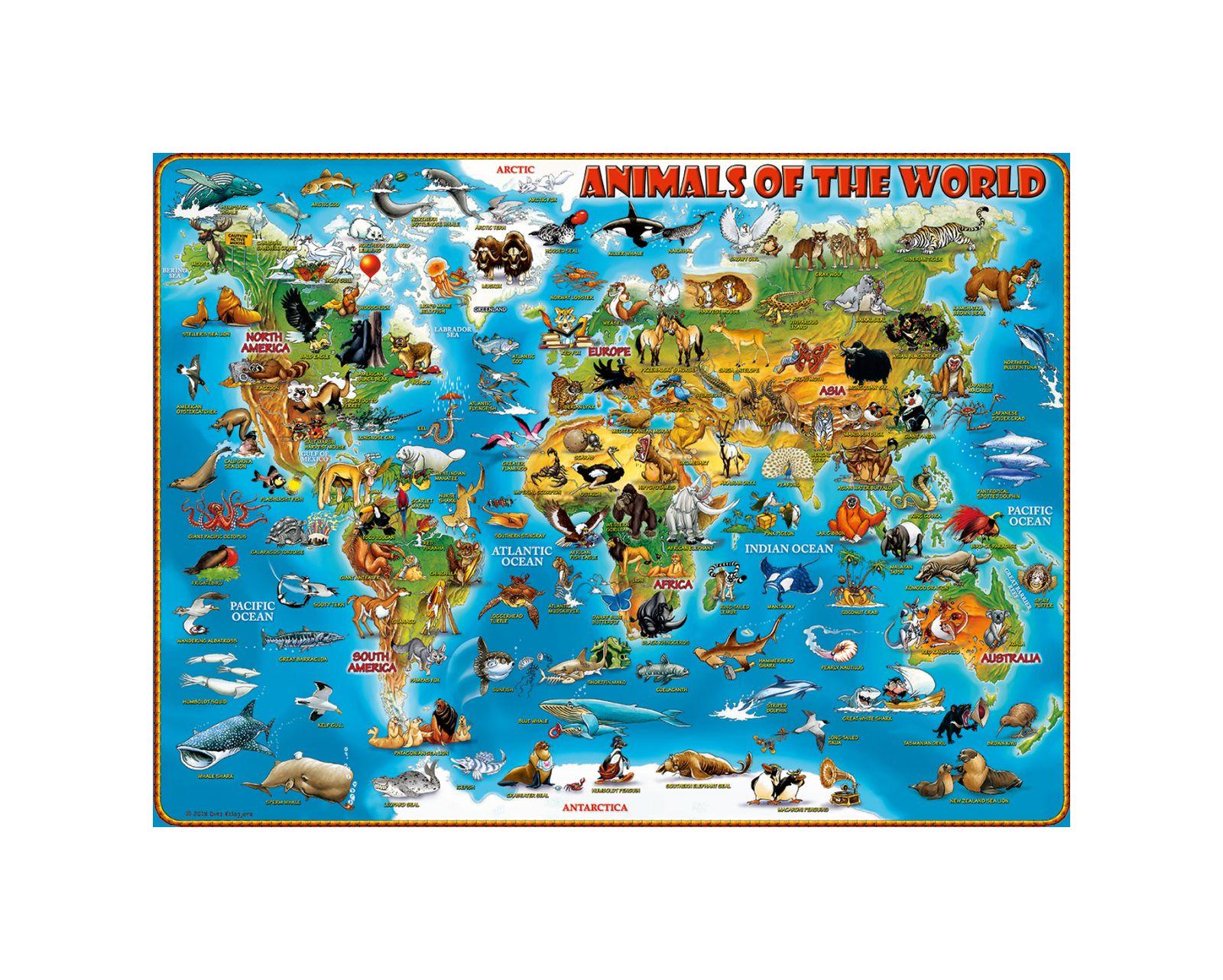 Ravensburger - puzzle 300 pezzi xxl - animali del mondo - Ravensburger1