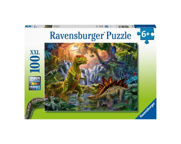 RAVENSBURGER - PUZZLE 100 PEZZI XXL - L'OASI DEI DINOSAURI Ravensburger1