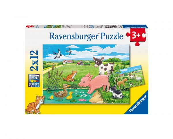 RAVENSBURGER - PUZZLE 2X12 PEZZI - FATTORIA Ravensburger1