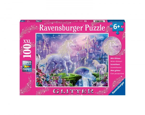 RAVENSBURGER - PUZZLE 100 PEZZI XXL - REGNO UNICORNO Ravensburger1