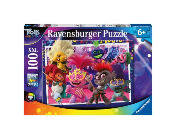 RAVENSBURGER - PUZZLE 100 PEZZI XXL - TROLLS 2: CANTA A SQUARCIAGOLA Ravensburger1