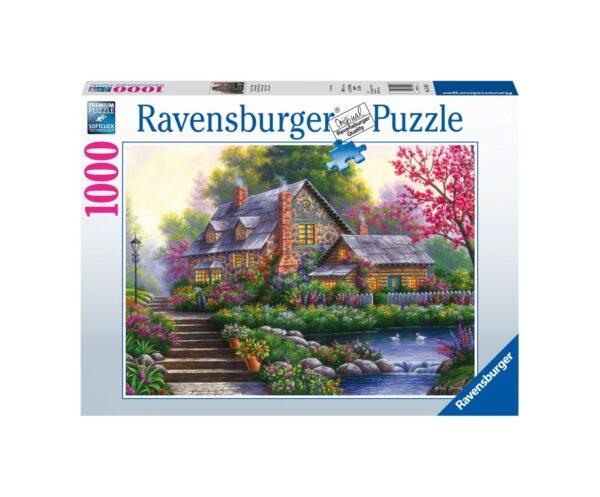 RAVENSBURGER PUZZLE 1000 PEZZI  ROMANTIC ENGLISH COTTAGE Ravensburger1