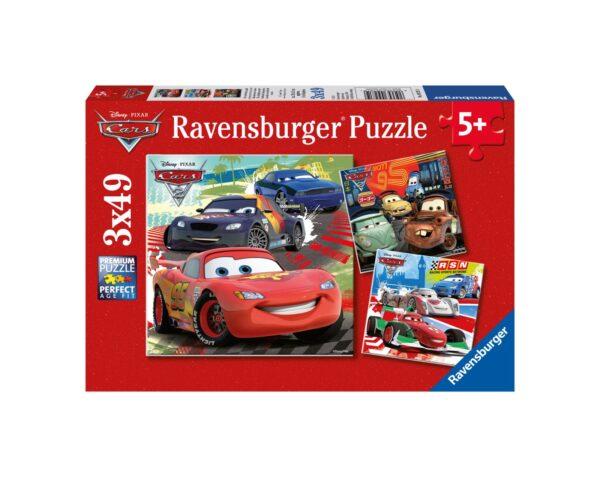RAVENSBURGER - PUZZLE 3X49 PEZZI - CARS 2 Ravensburger1