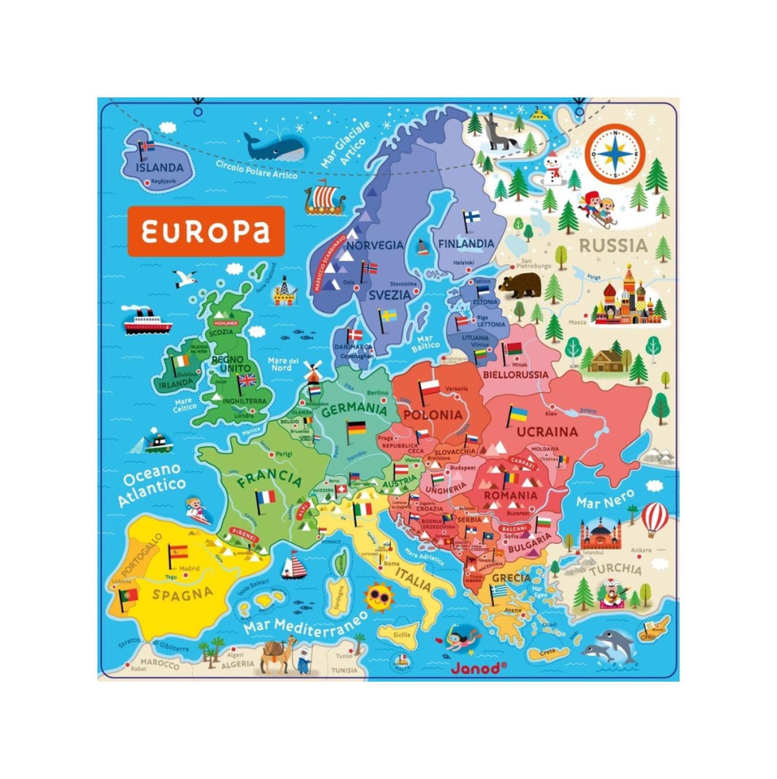 Cartina Europa.Cartina Magnetica Europa Toys Center