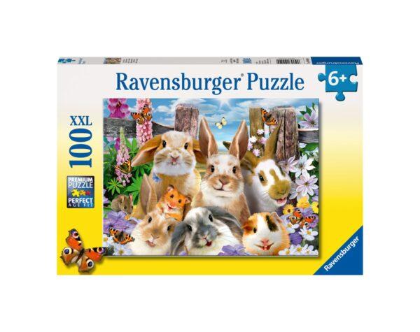 RAVENSBURGER - PUZZLE 100 PEZZI XXL - SELFIE DI CONIGLIETTI Ravensburger1