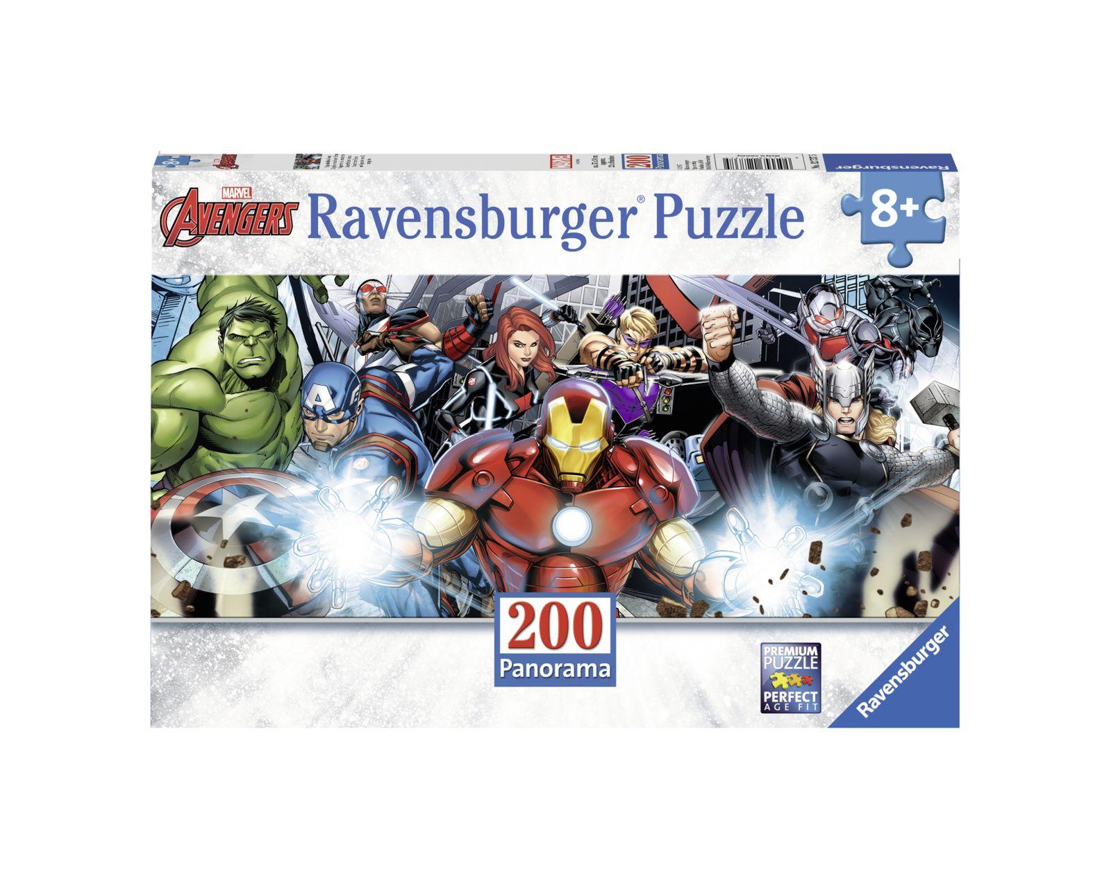 Ravensburger - puzzle 200 pezzi xxl - avengers panorama - Ravensburger1