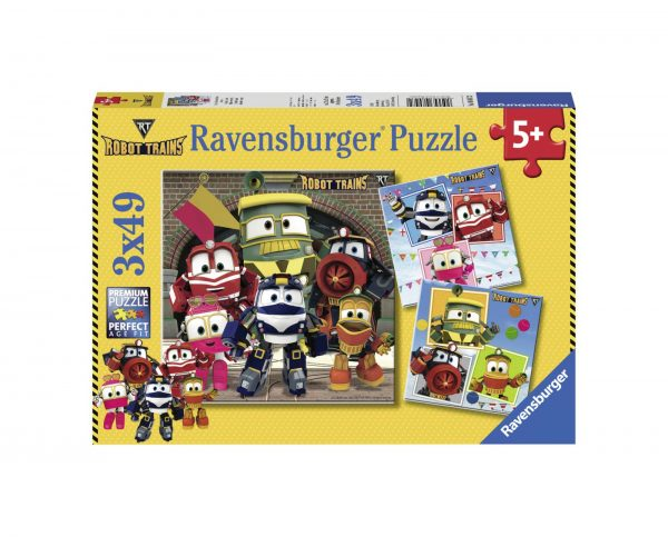 RAVENSBURGER - PUZZLE 3X49 PEZZI - ROBOT TRAINS Ravensburger1