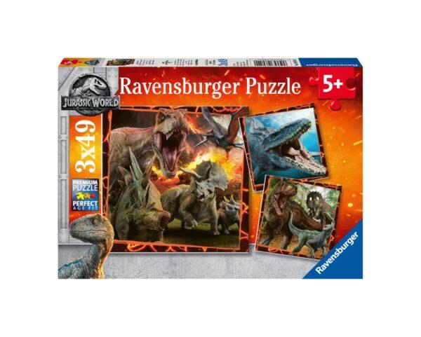 RAVENSBURGER - PUZZLE 3X49 PEZZI - JURASSIC WORLD Jurassic World, Ravensburger1