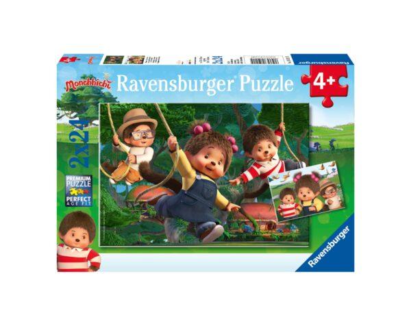 RAVENSBURGER - PUZZLE 2X24 PEZZI - MONCHHICHI Ravensburger1