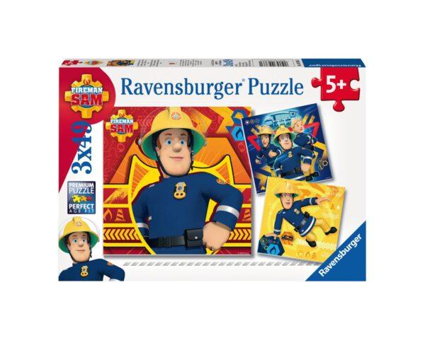RAVENSBURGER - PUZZLE 3X49 PEZZI - SAM IL POMPIERE Ravensburger1