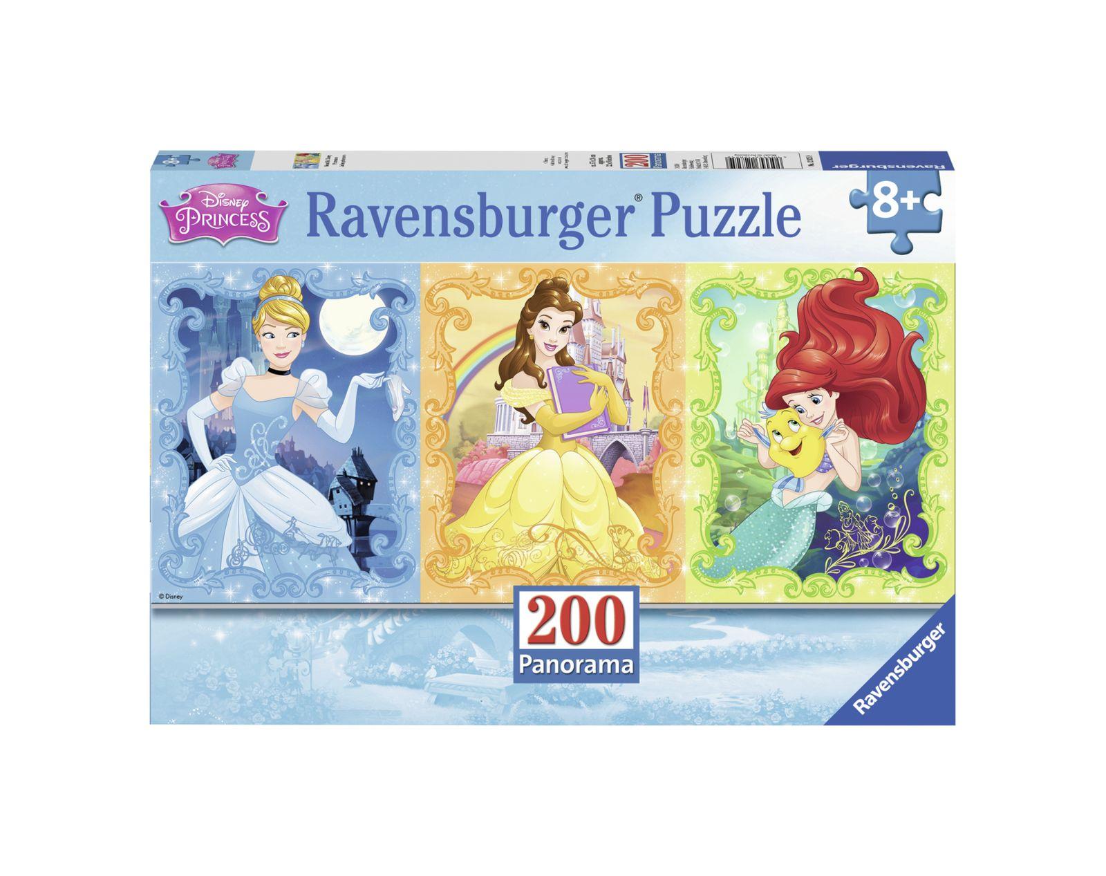 Ravensburger - puzzle 200 pezzi xxl - principesse disney panorama - Ravensburger1