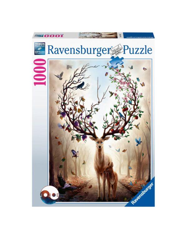 RAVENSBURGER PUZZLE 1000 PEZZI CERVO MAGICO Ravensburger1