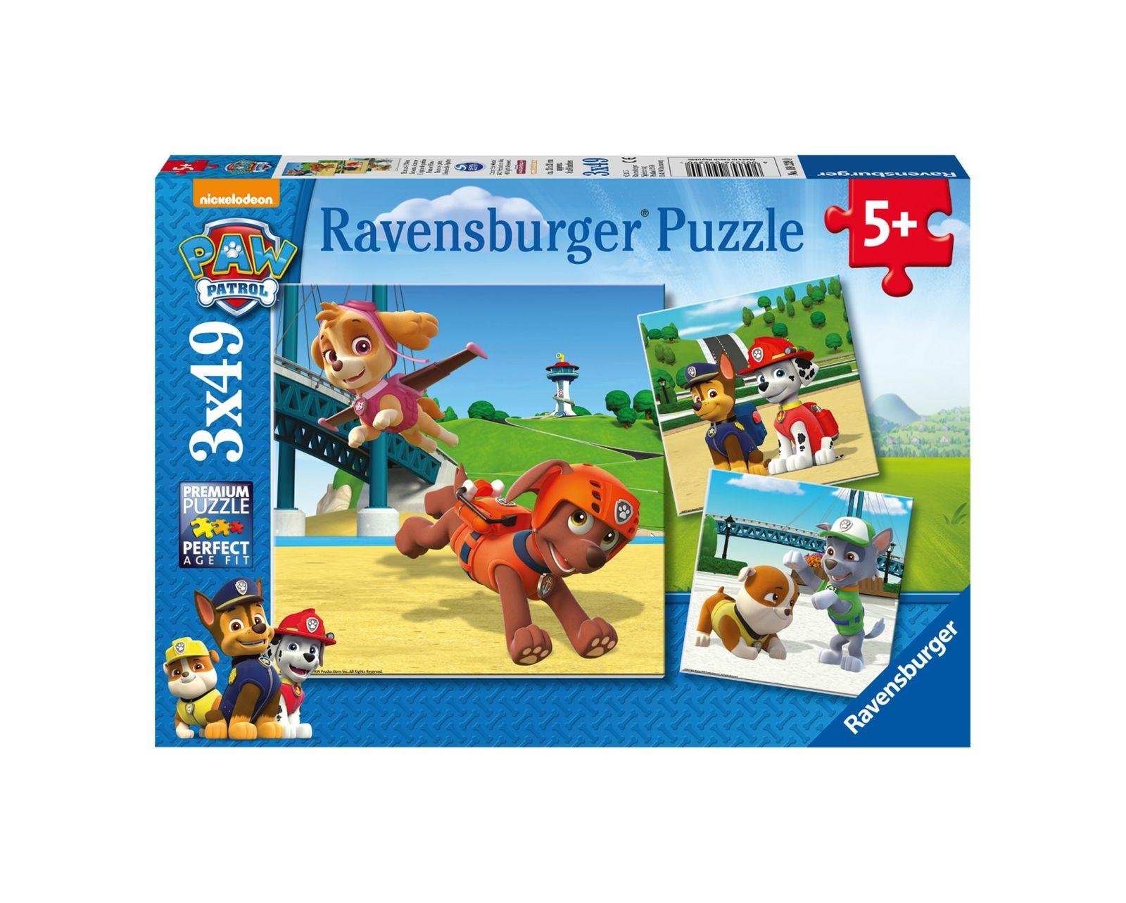 Ravensburger - puzzle 3x49 pezzi - paw patrol b - Ravensburger1