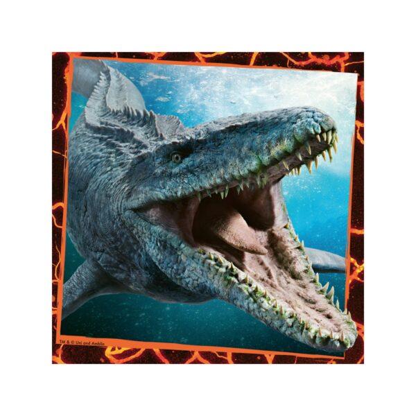 Jurassic World, Ravensburger1  RAVENSBURGER - PUZZLE 3X49 PEZZI - JURASSIC WORLD
