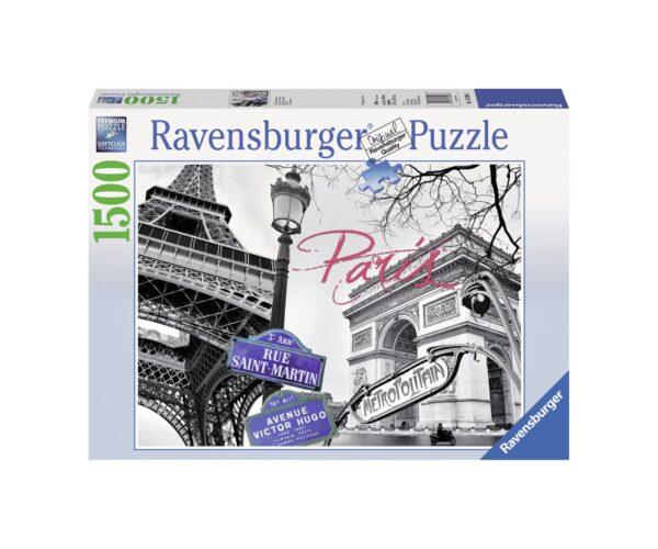 RAVENSBURGER PUZZLE 1500 PEZZI A PARIGI Ravensburger1