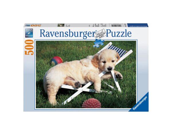 RAVENSBURGER - PUZZLE 500 PEZZI - CUCCIOLO DI GOLDEN RETRIEVER Ravensburger1